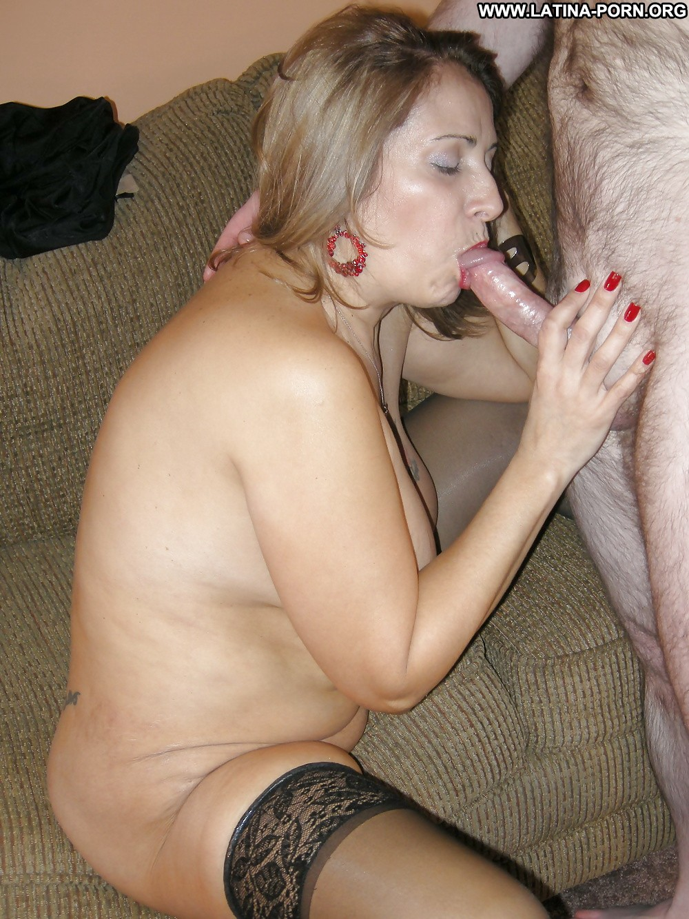 image Latina milf sandie marquez is swallowing a stiff cock